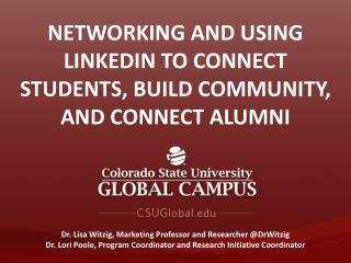 Networking and Using  Linkedin  to Connect Students, Build Community, and Connect Alumni