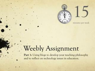 Weebly  Assignment