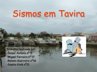 Sismos em Tavira