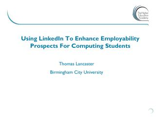 Using LinkedIn To Enhance Employability Prospects For Computing Students