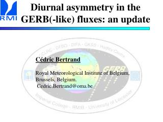 Diurnal asymmetry in the GERB(-like) fluxes: an update