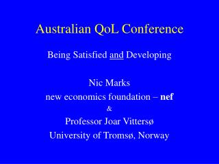 Australian QoL Conference
