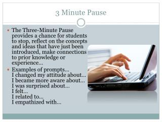 3 Minute Pause