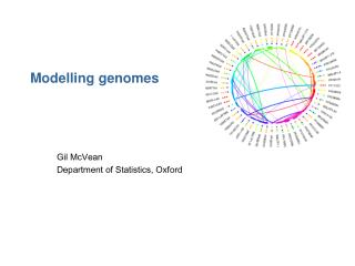 Modelling genomes