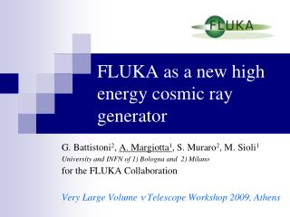 FLUKA as a new high energy cosmic ray generator