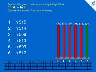 Express the given quantity as a single logarithm: {image} Choose the answer from the following: