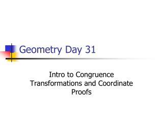 Geometry Day 31