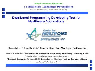 Distributed Programming Developing Tool for Healthcare Applications
