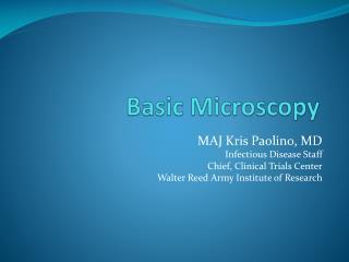 Basic Microscopy