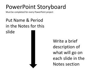 PowerPoint Storyboard Must be completed for every PowerPoint project