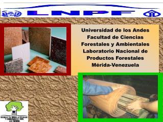 Universidad de los Andes Facultad de Ciencias Forestales y Ambientales