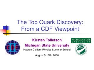 The Top Quark Discovery:  From a CDF Viewpoint