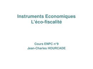 Instruments Economiques L��co-fiscalit�