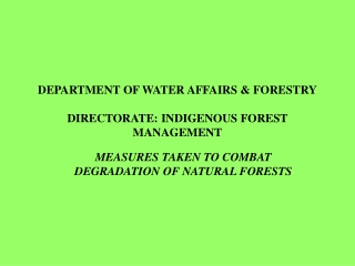 Information System distributing Forest Rights