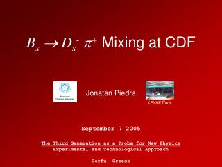 B s   D s - p +  Mixing at CDF
