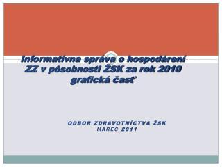 Informatívna správa o hospodárení ZZ v pôsobnosti ŽSK za rok 2010 grafická časť