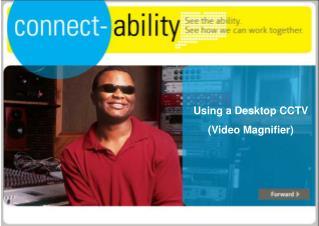 Using a Desktop CCTV  (Video Magnifier)