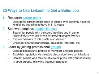 20 Ways to Use LinkedIn to Get a Better Job