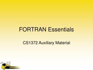 FORTRAN Essentials
