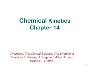 Chemical  Kinetics Chapter 14
