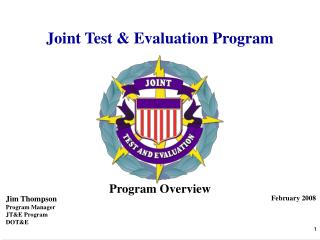 Joint Test & Evaluation Program