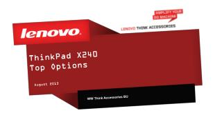 ThinkPad X240 Top Options