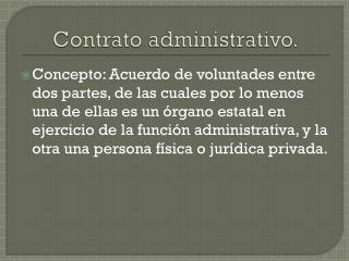 Contrato administrativo.