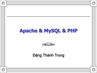 Apache & MySQL & PHP