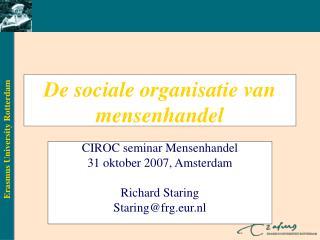 De sociale organisatie van mensenhandel
