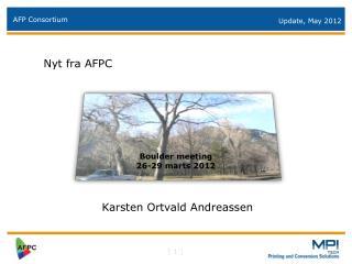 Nyt fra AFPC