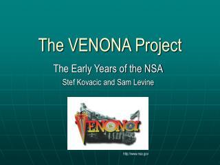 The VENONA Project