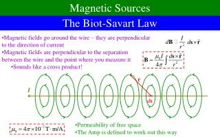 The Biot-Savart Law
