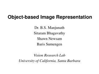 Object-based Image Representation