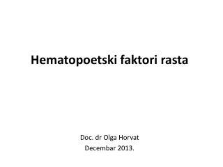 Hematopoetski faktori rasta