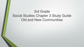 Why Study Chapter 3