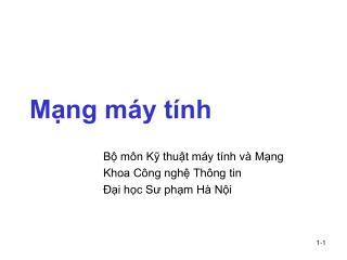 M?ng m�y t�nh