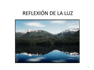 REFLEXI�N DE LA LUZ