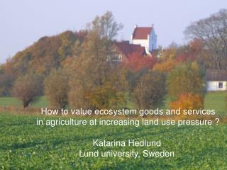 How to value ecosystem goods and services  in agriculture at increasing land use pressure ?