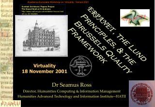 Virtuality 18 November 2001