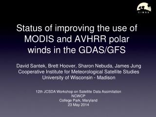 Status of improving the use of  MODIS and AVHRR polar  winds in the GDAS/GFS