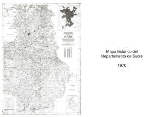 Mapa histórico del Departamento de Sucre 1970