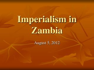 Imperialism in Zambia