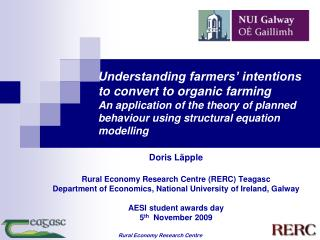 Doris Läpple Rural Economy Research Centre (RERC) Teagasc