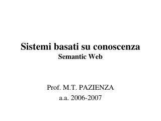 Sistemi basati su conoscenza Semantic Web