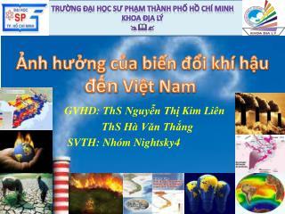 TRƯỜNG ĐẠI HỌC SƯ PHẠM THÀNH PHỐ HỒ CHÍ MINH KHOA ĐỊA LÝ 