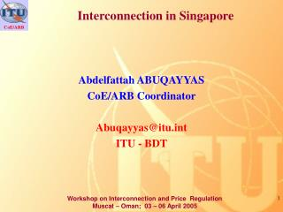 Interconnection in Singapore