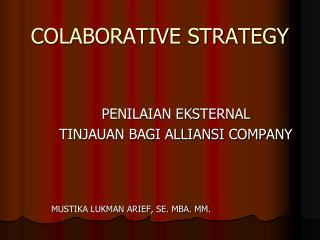 COLABORATIVE STRATEGY
