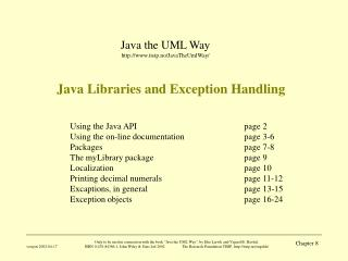 Java Libraries and Exception Handling