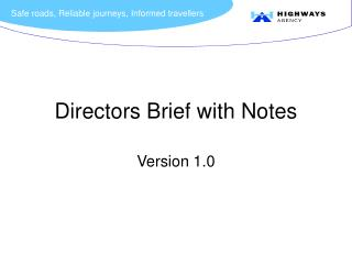 Directors Brief with Notes
