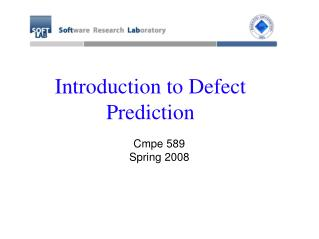 Introduction to Defect Prediction